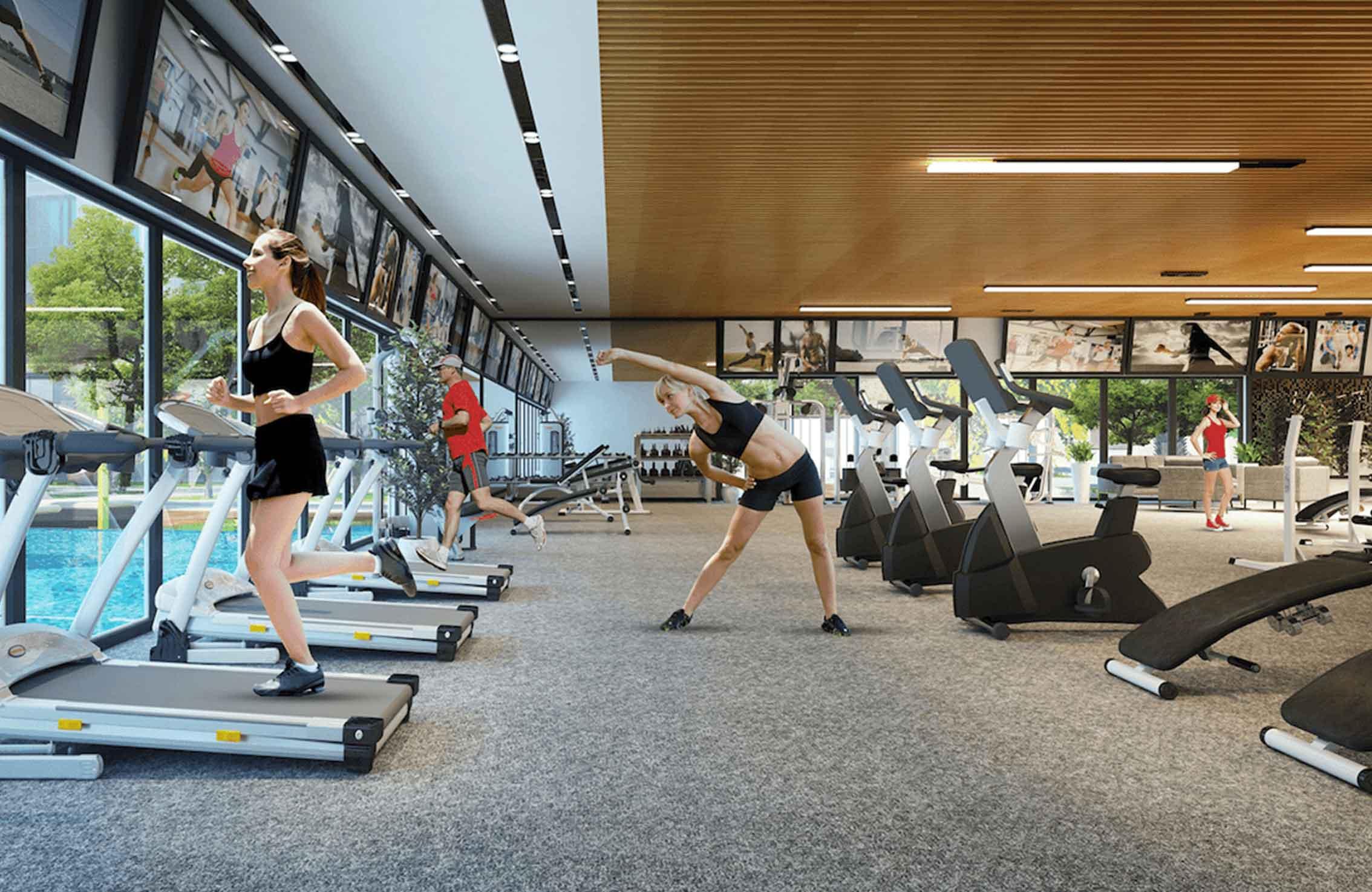 Tiến ích phòng gym dự án căn hộ Hà Đô Centrosa Garden