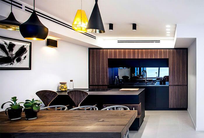 10apartment king david roy david 1 - Mẫu nội thất căn hộ theo tông màu tối