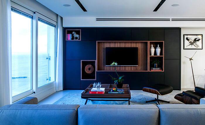 2apartment king david roy david 5 - Mẫu nội thất căn hộ theo tông màu tối