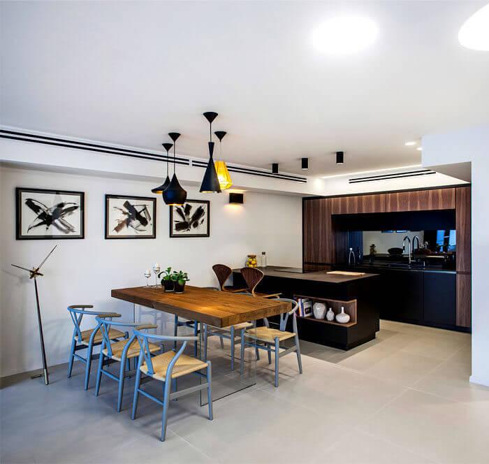 7apartment king david roy david 13 - Mẫu nội thất căn hộ theo tông màu tối