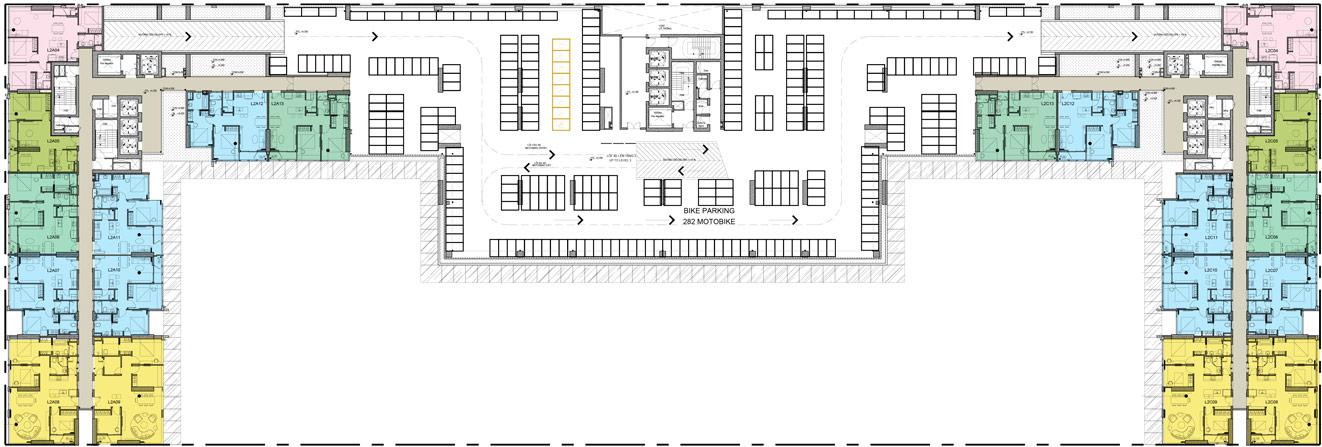 Mặt bằng chi tiết tằng 2 dự án căn hộ chung cư Kingdom 101