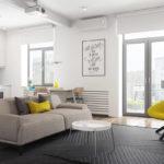 Mẫu căn hộ dưới 50m2 với không gian rộng rãi và cá tính