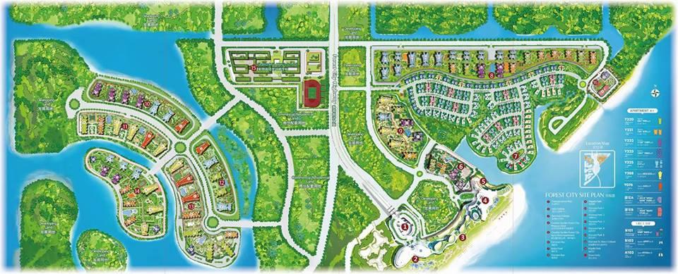 bản đồ Forest City