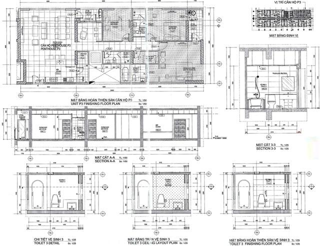 Thiết kế chi tiết dự án căn hộ 152 Điện Biên Phủ quận Bình Thạnh