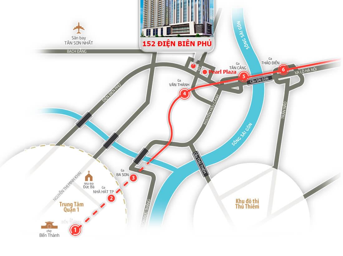 Vị trí địa chỉ căn hộ chung cư 152 Điện Biên Phủ quận Bình Thạnh