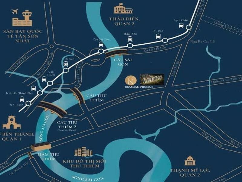 vị trí dự án reamian city