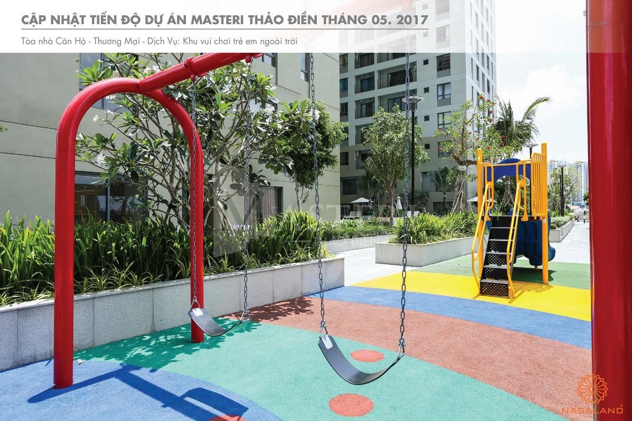 Tiến độ khu vui chơi trong khuôn viên dự án Masteri Thảo Điền quận 2