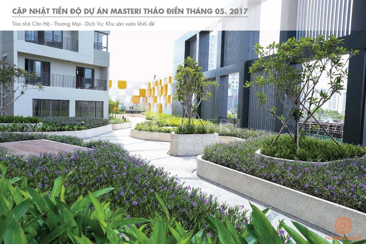 Tiến độ quang cảnh trong khuôn viên dự án Masteri Thảo Điền quận 2