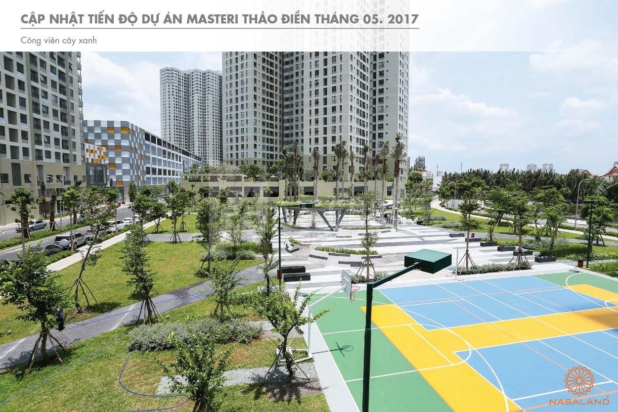 Tiến độ sân thể thao trong khuôn viên dự án Masteri Thảo Điền quận 2