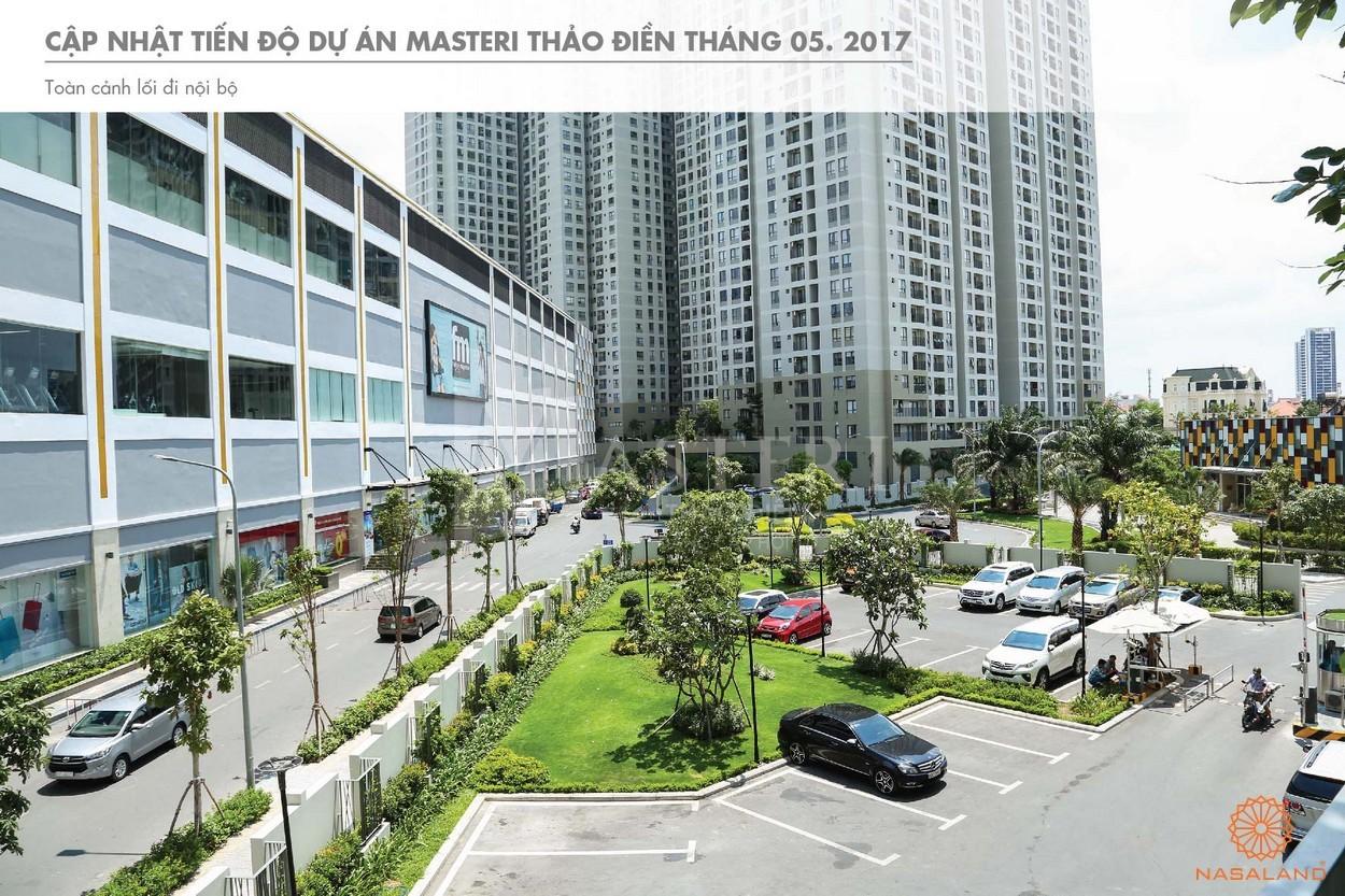 Tiến độ bãi đỗ xe trong khuôn viên dự án Masteri Thảo Điền quận 2