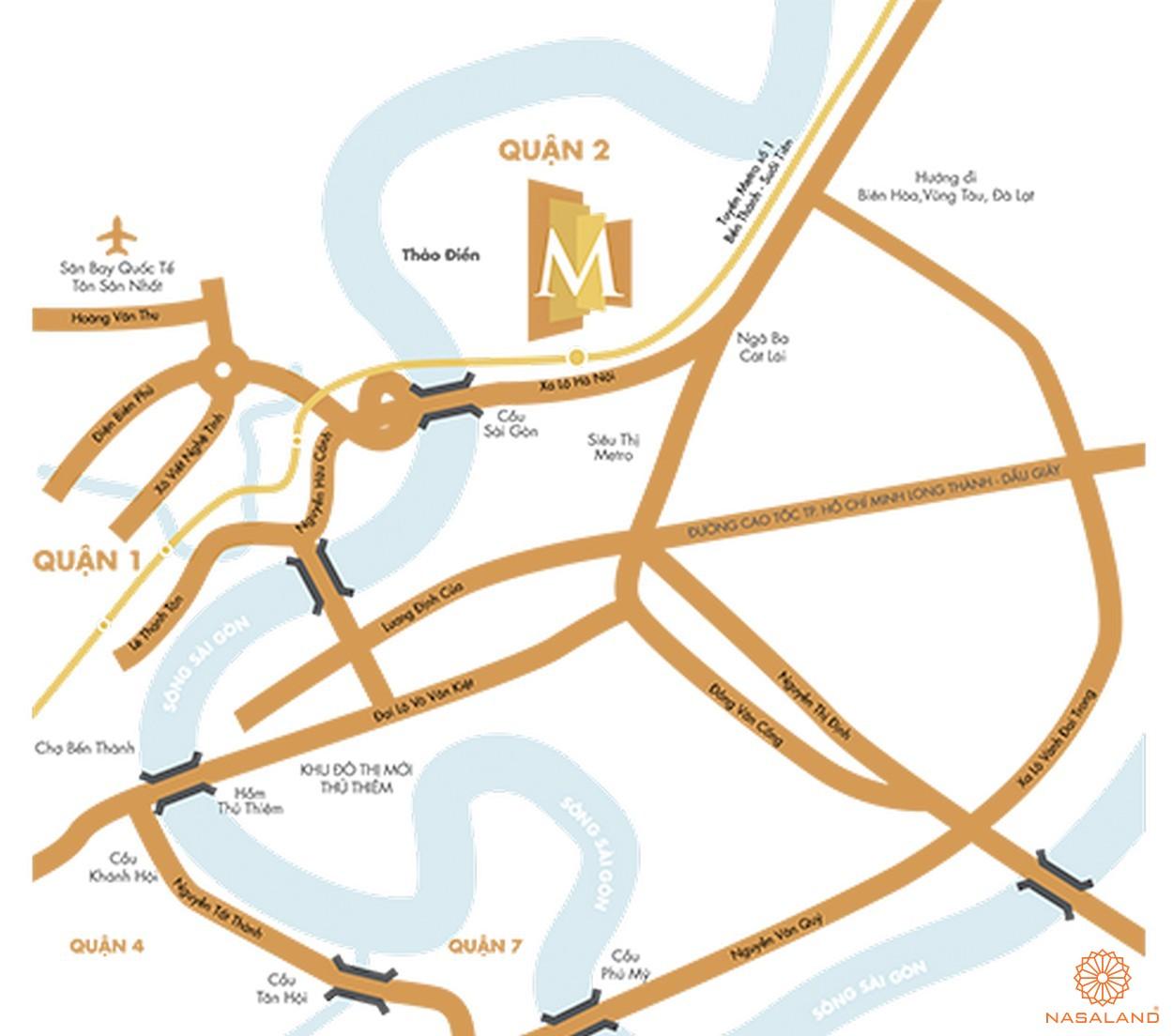 Vị trí địa chỉ căn hộ chung cư Masteri Thảo Điền quận 2