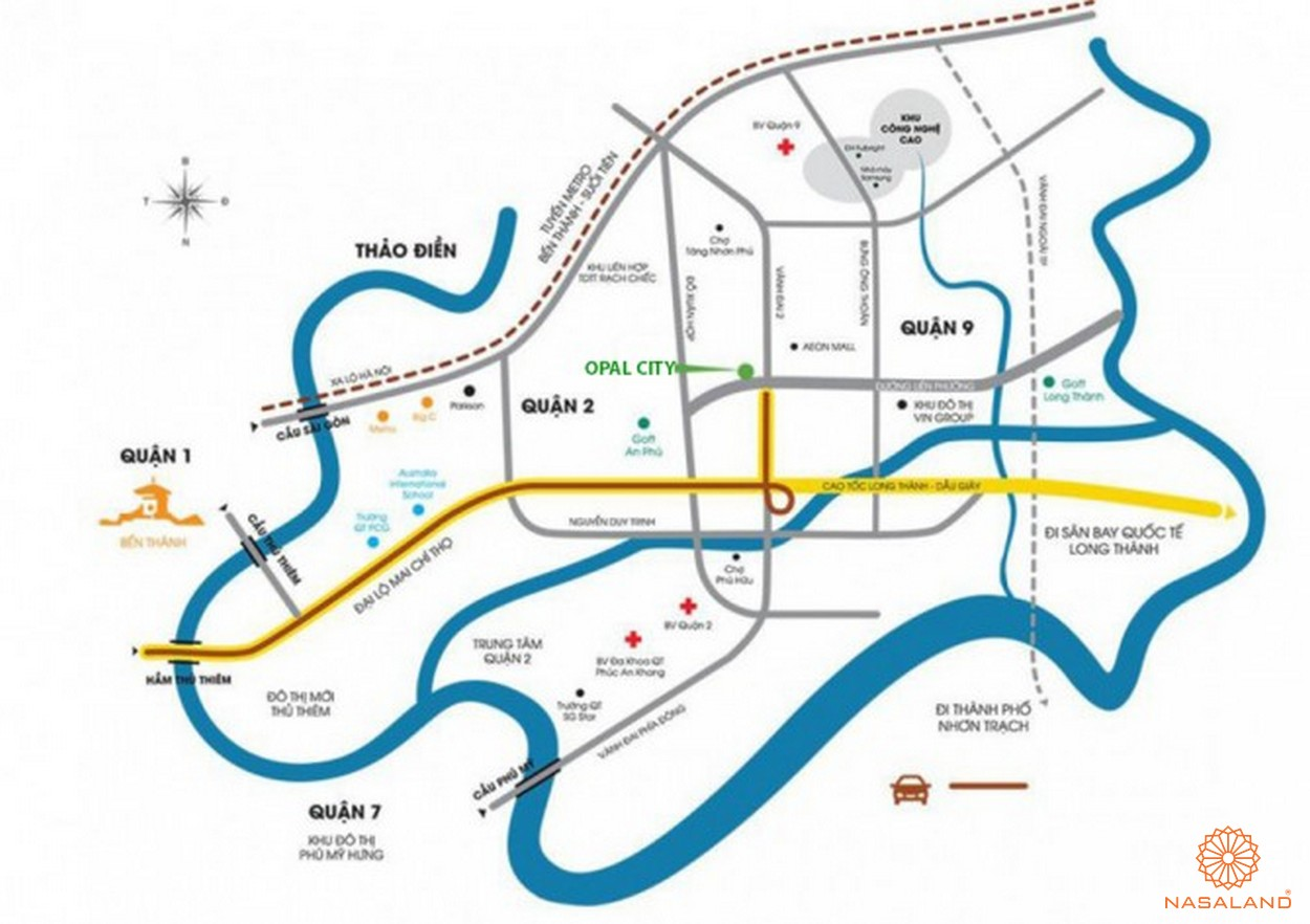 Vị trí dự án Opal City quận 9