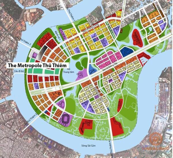 liên kết vùng căn hộ the metropole thủ thiêm