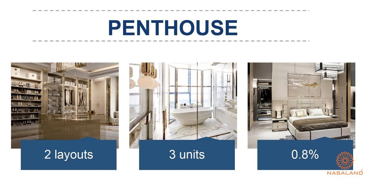Mặt bằng căn hộ chung cư The Metropole Thủ Thiêm - Penthouse