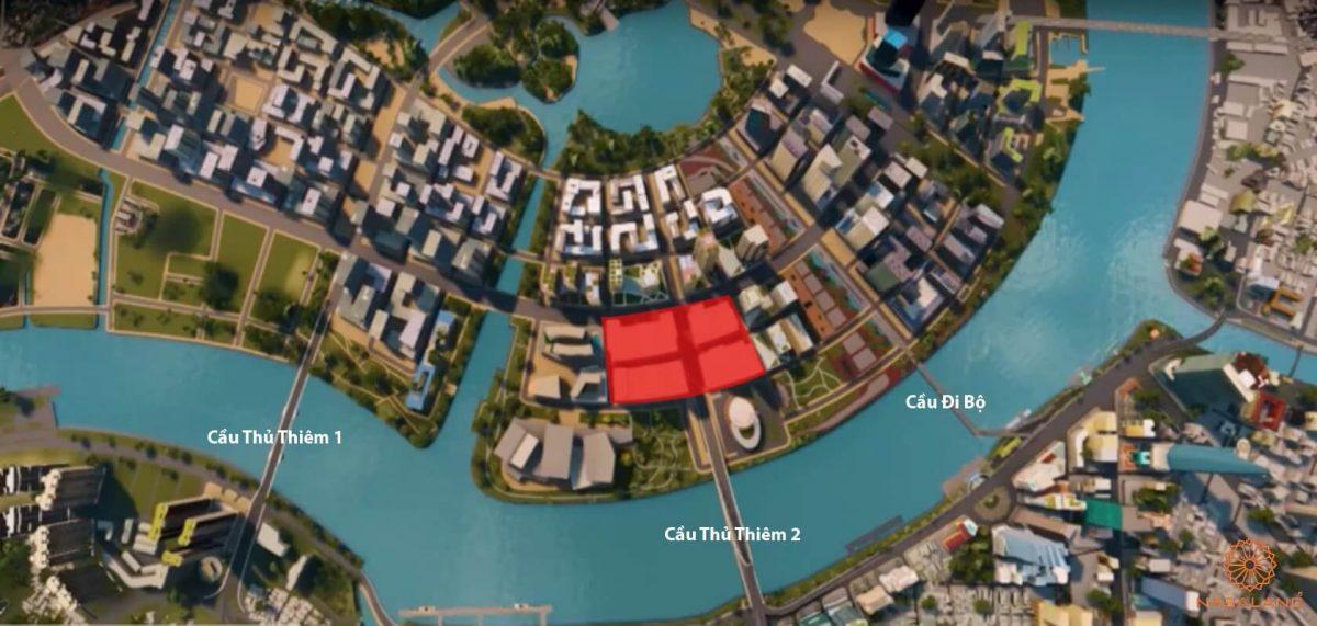 vị trí dự án căn hộ the metropole thủ thiêm