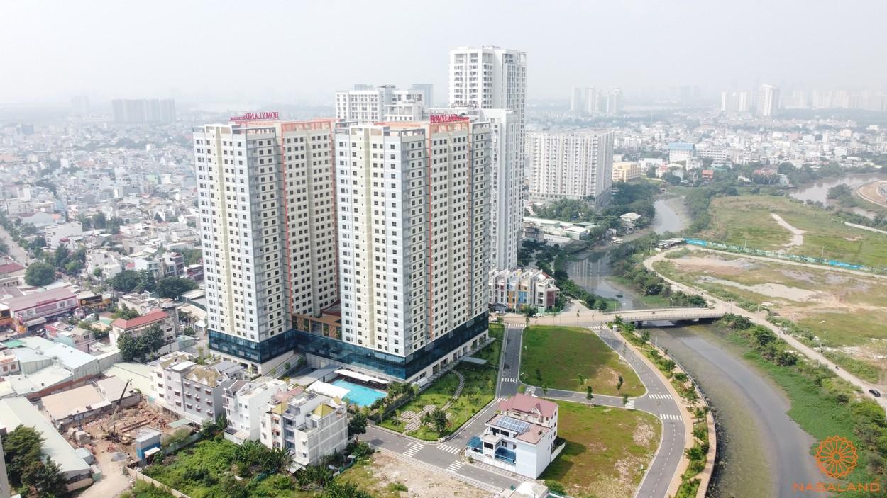 Phối cảnh thực tế căn hộ Homyland Riverside