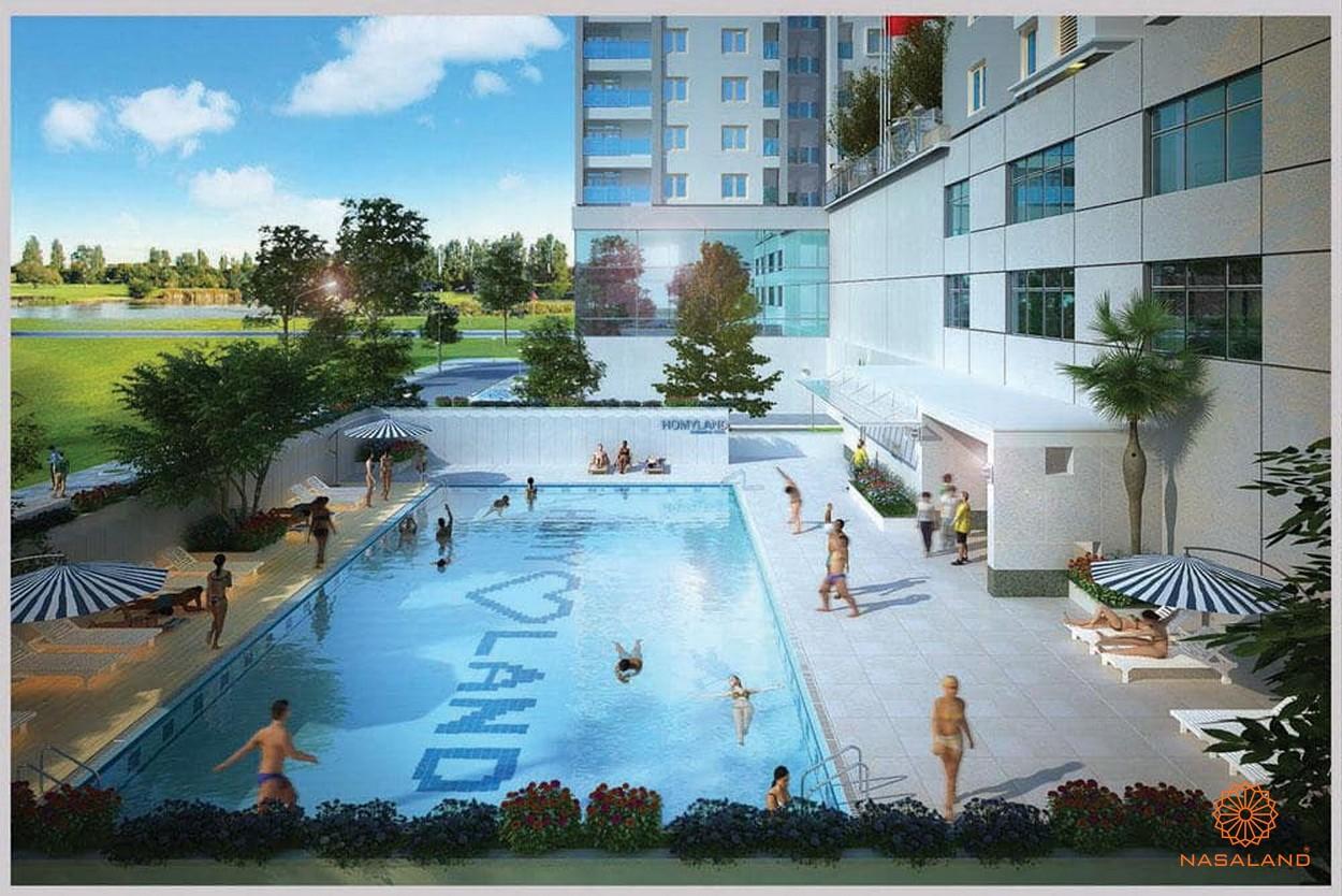 Tiện ích hồ bơi dự án căn hộ Homyland Riverside quận 2