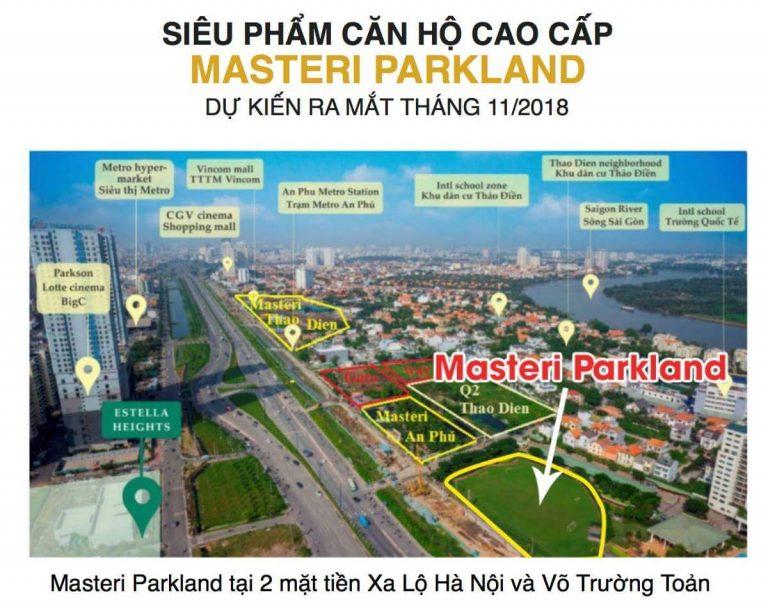 dự án masteri parkland quận 2