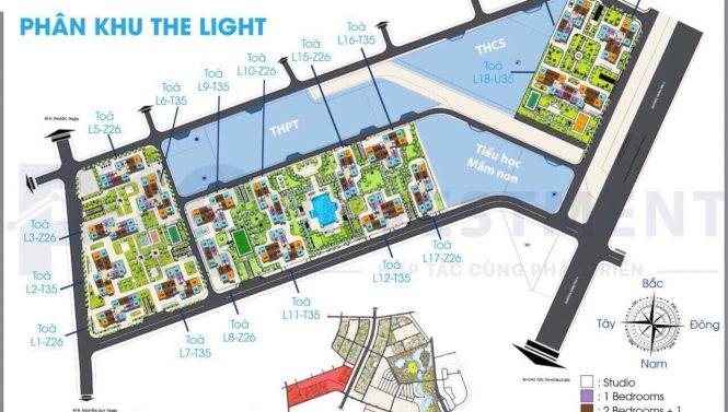PHÂN KHU THE LIGHT 665x377 - The Light Vincity Quận 9 – Phân Khu Của Những Ánh Hào Quang