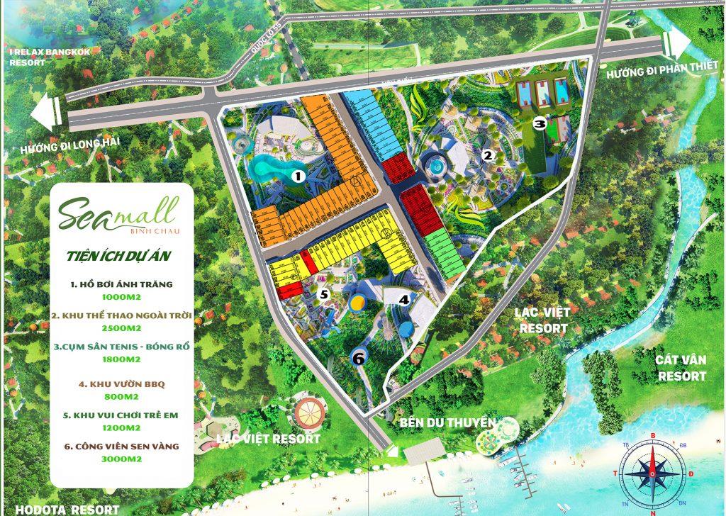 mặt bằng dự án Seamall Bình Châu