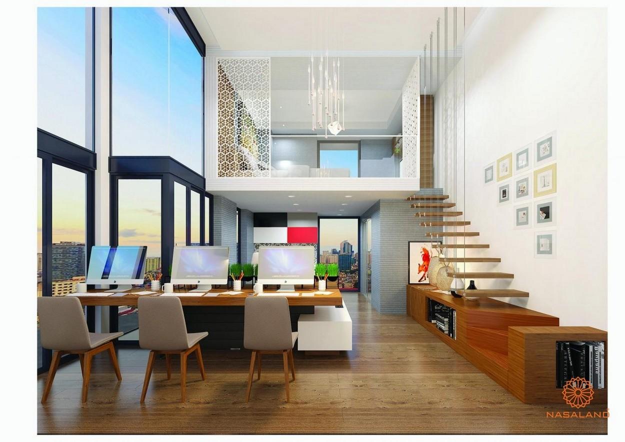 Thiết kế căn hộ Officetel có lửng tại dự án