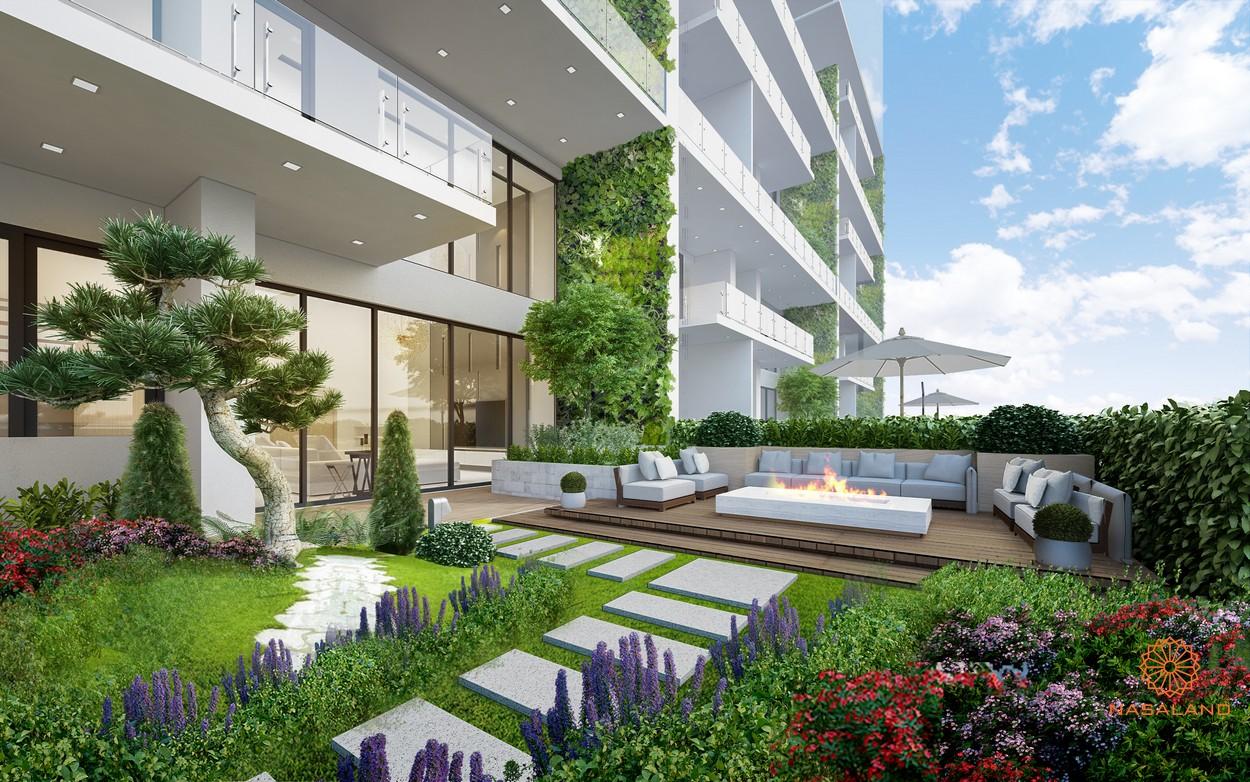 Vườn cây tại dự án căn hộ La Astoria Quận 2