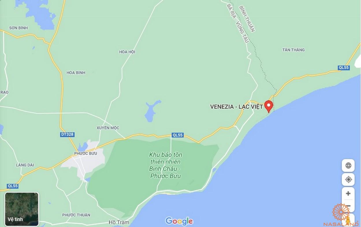 Vị trí KDL Lạc Việt Bình Thuận (Venezia Beach)