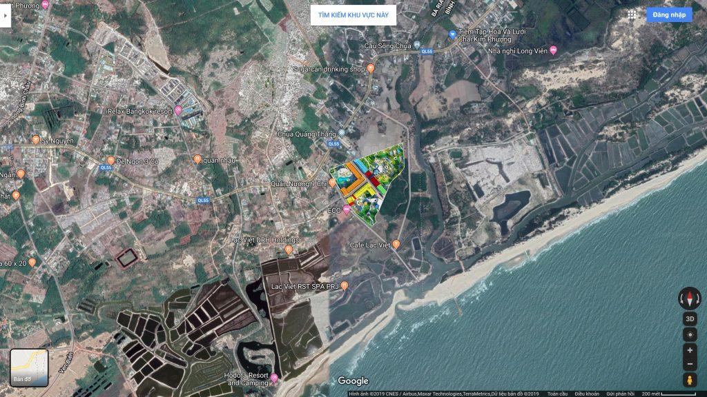 Vị trí thực tế dự án Seamall Bình Châu