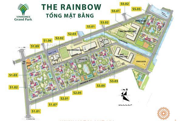 mặt bằng rainbow vinhomes grand park