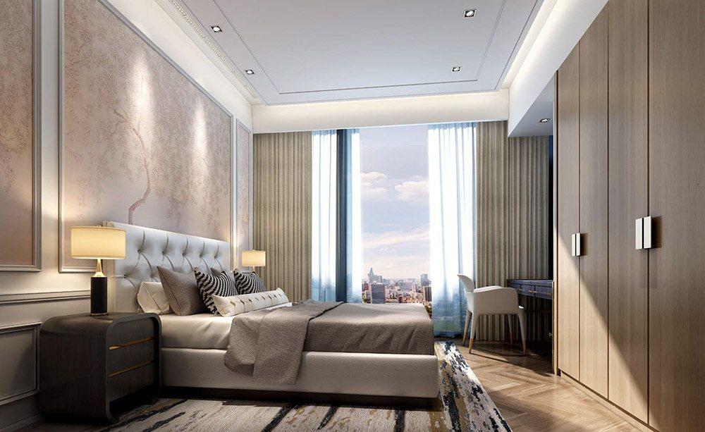 Nội thất phòng ngủ căn hộ cao cấp Centennial Ba Son