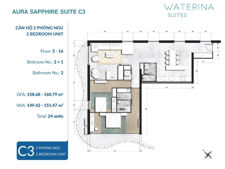 căn hộ waterina suite