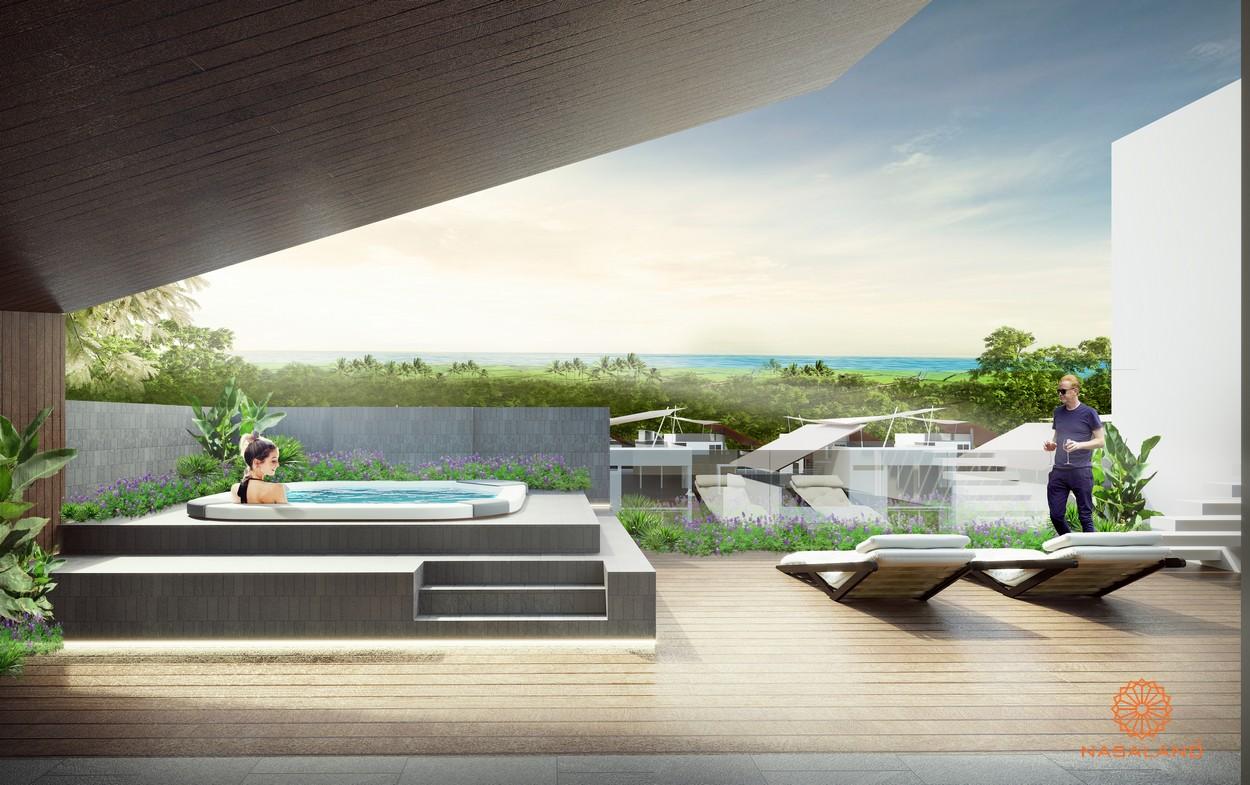 Ocean villa Bình Châu - hồ bơi trên sân thượng biệt thự Bình Châu