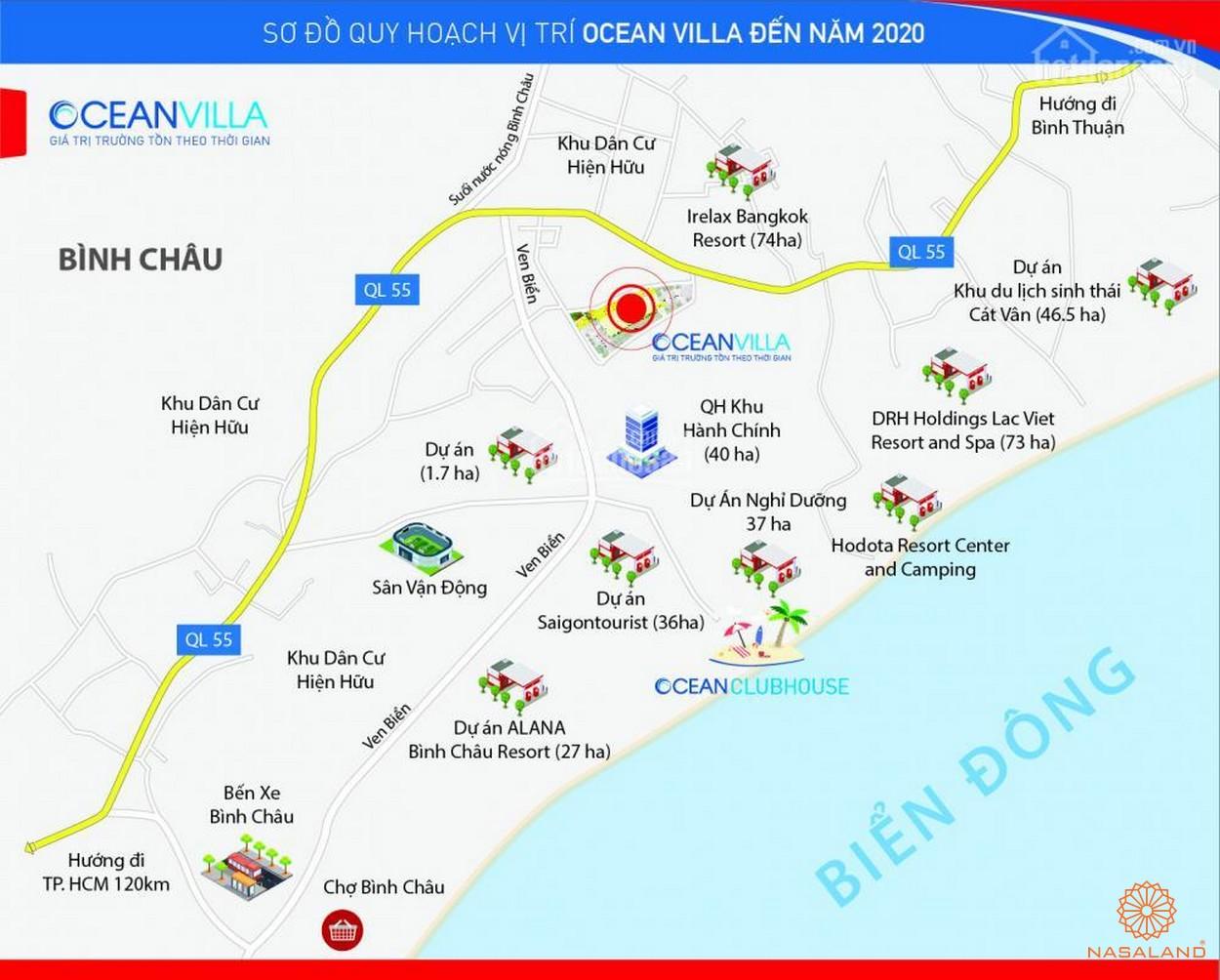 Ocean Villa Bình Châu - Vị trí đất nền biệt thự Bình Châu