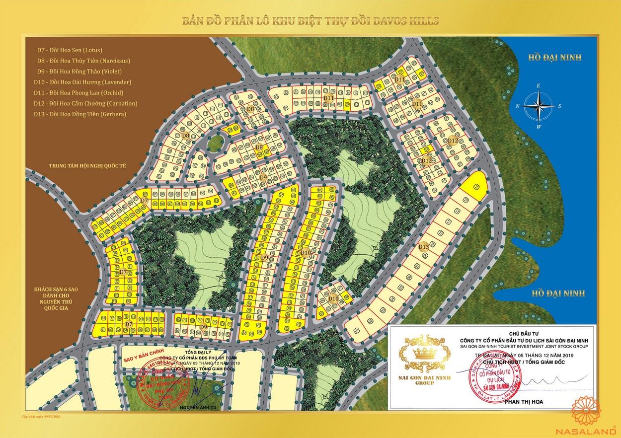 Mặt bằng phân khu dự án Khu đô thị Nam Đà Lạt