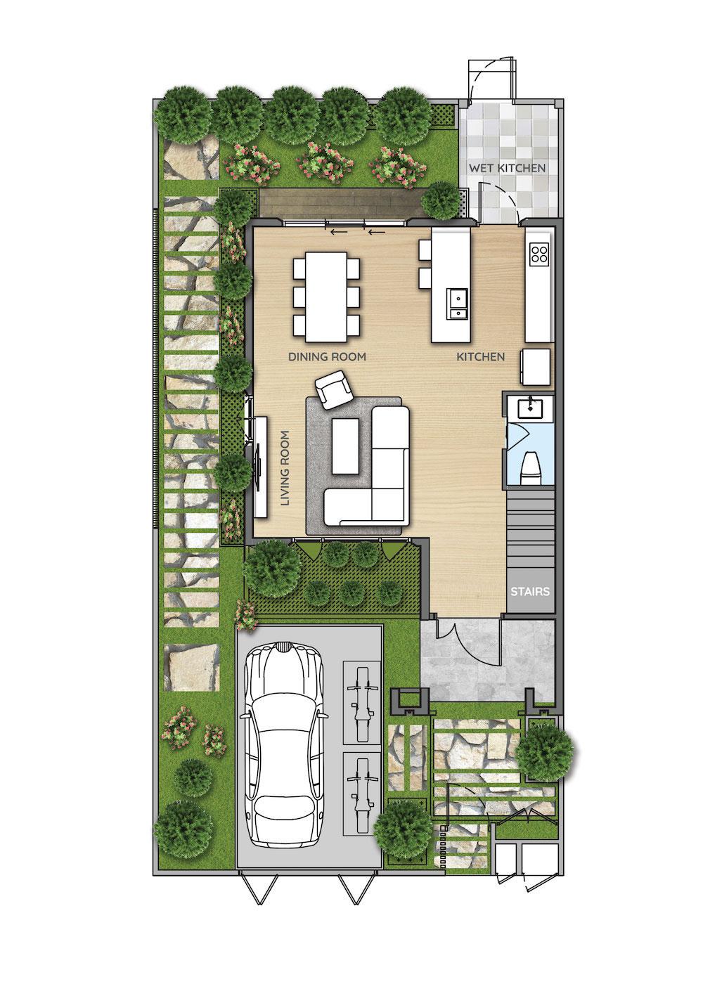 Mặt bằng nhà phố dự án