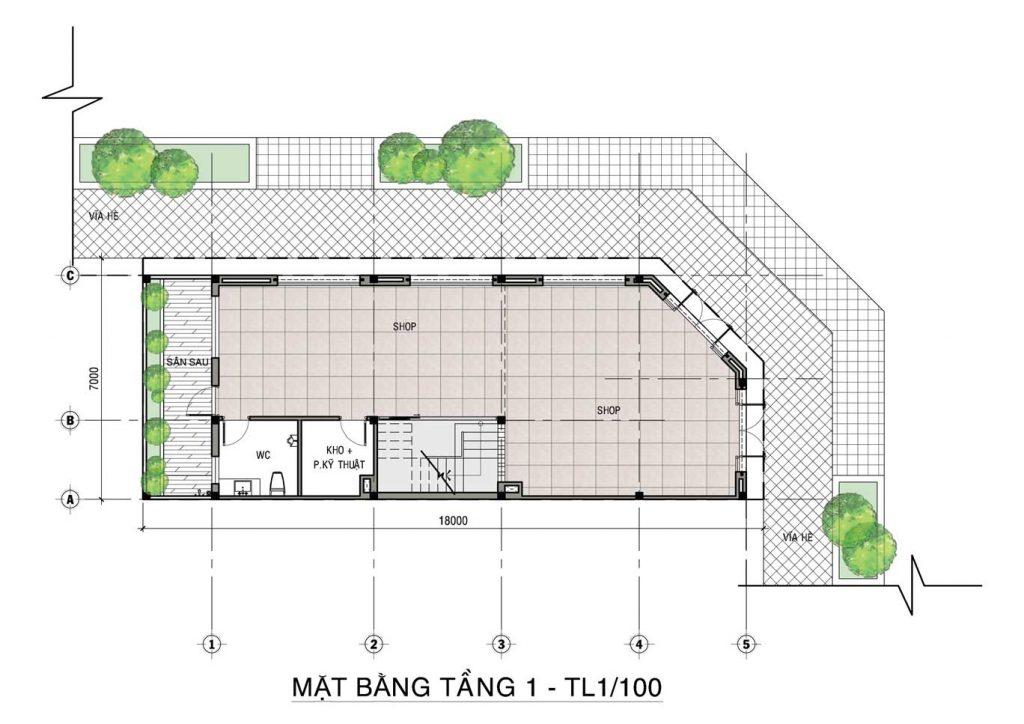 mặt bằng shophouse dự án tiến lộc garden