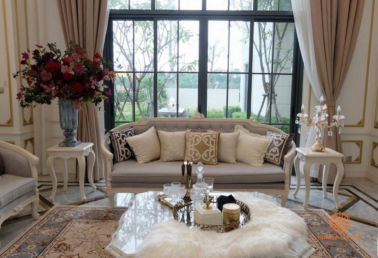 Nhà mẫu phòng khách dự án Swan Bay Đại Phước