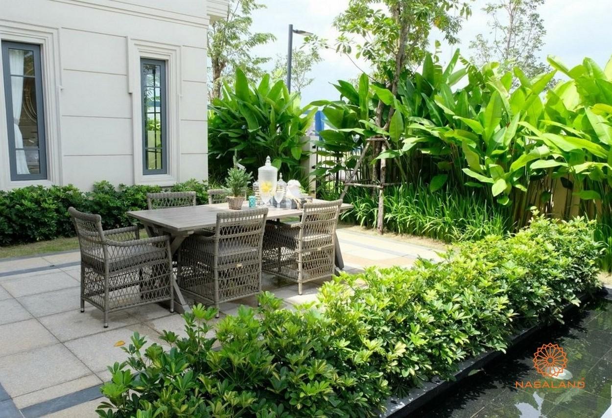 Sân vườn nhà mẫu dự án Swan Bay Đại Phước