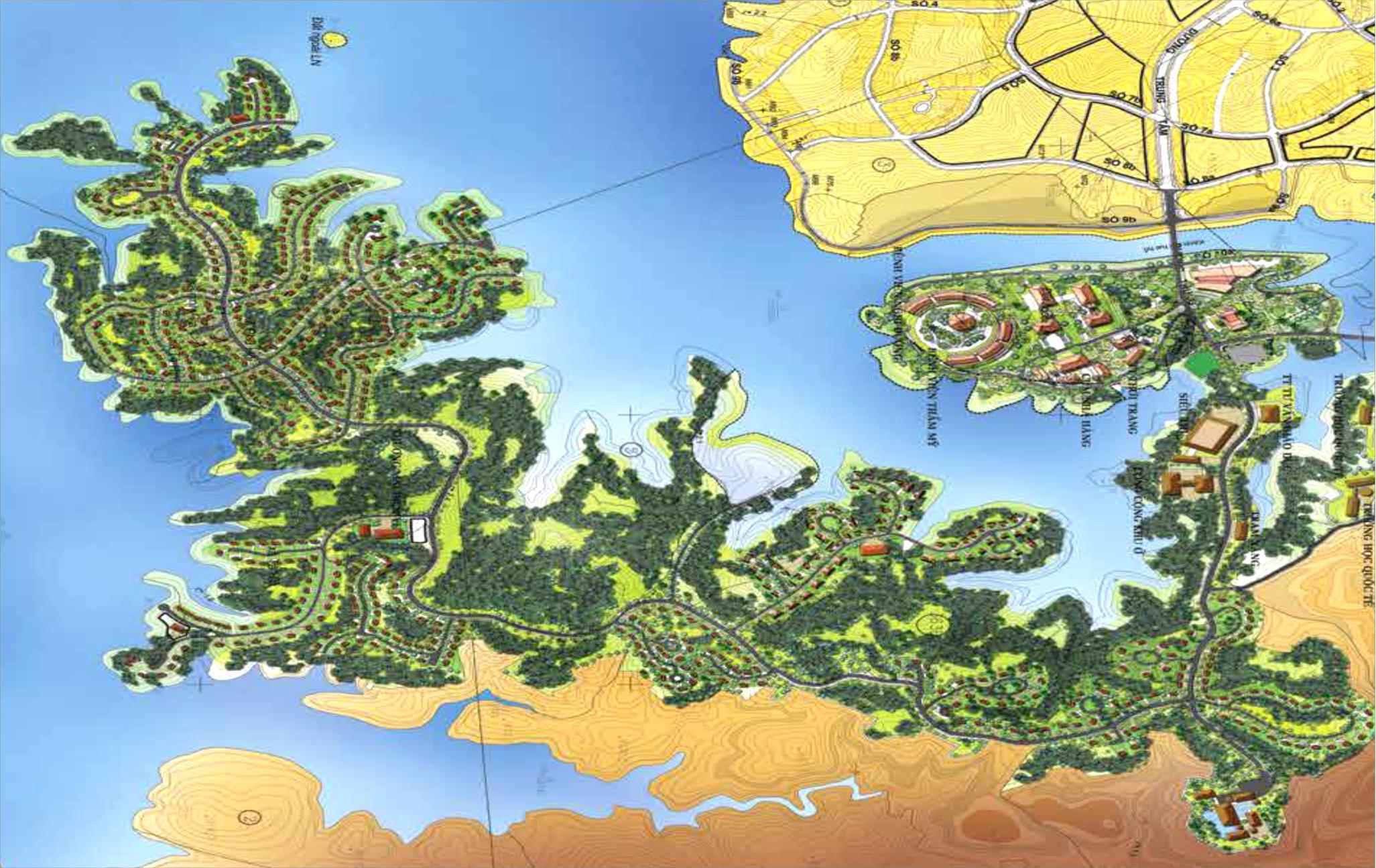 Mặt bằng dự án Khu đô thị Nam Đà Lạt Đức Trọng