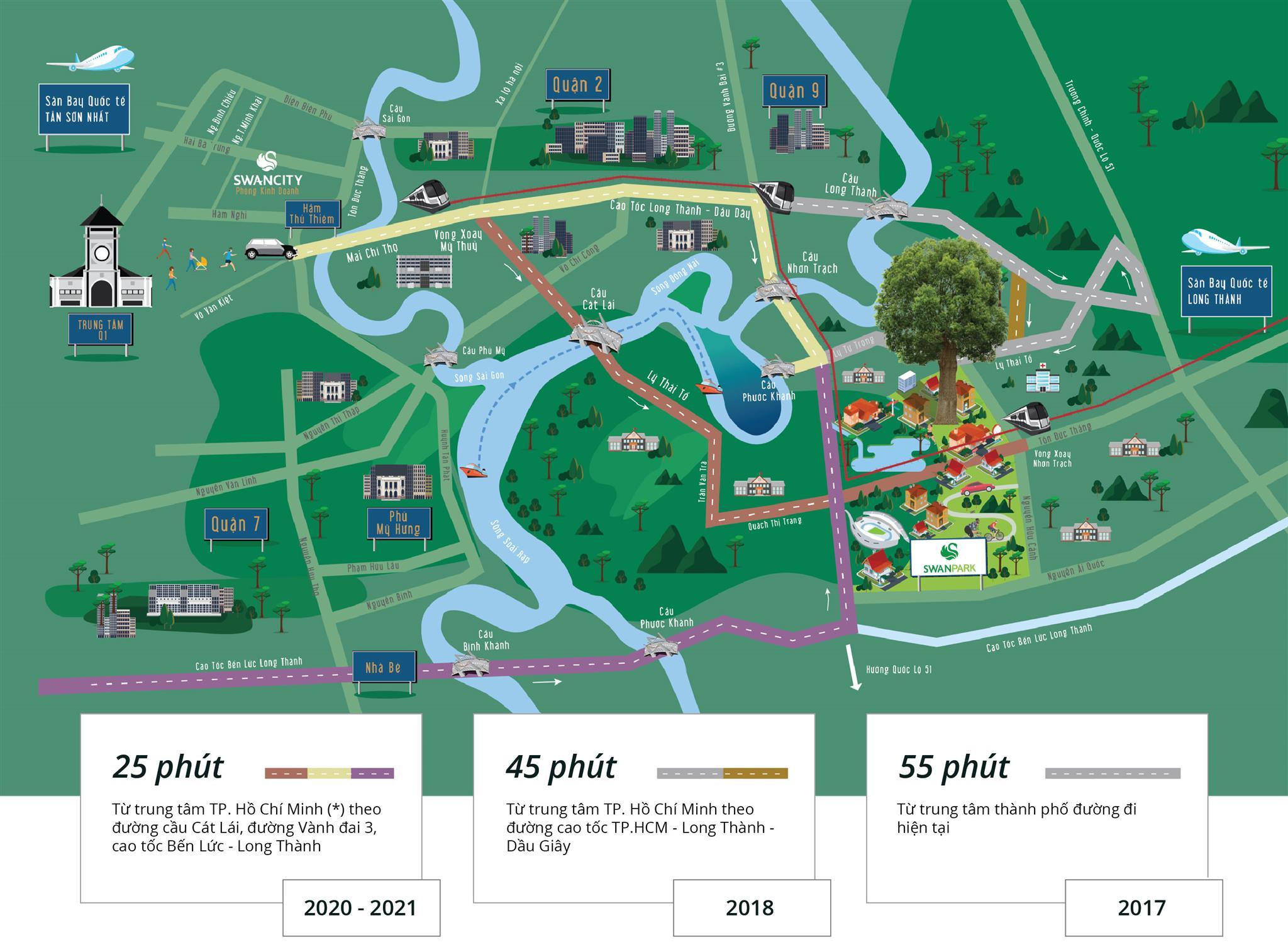 Vị trí dự án Swan Park Nhơn Trạch