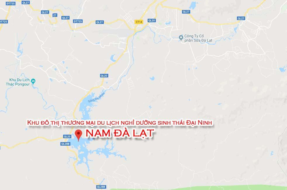 Vị trí địa chỉ dự án Khu đô thị Nam Đà Lạt Đức Trọng