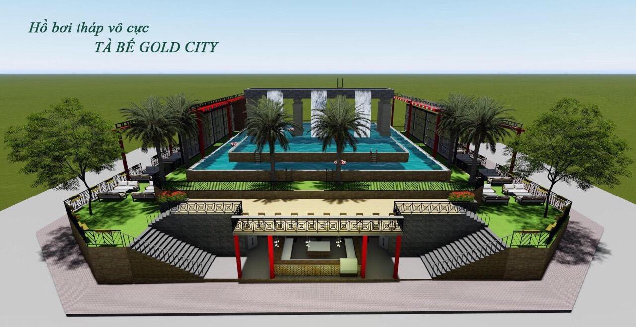 Hồ bơi với diện tích rộng của dự án Tà Bế Gold City