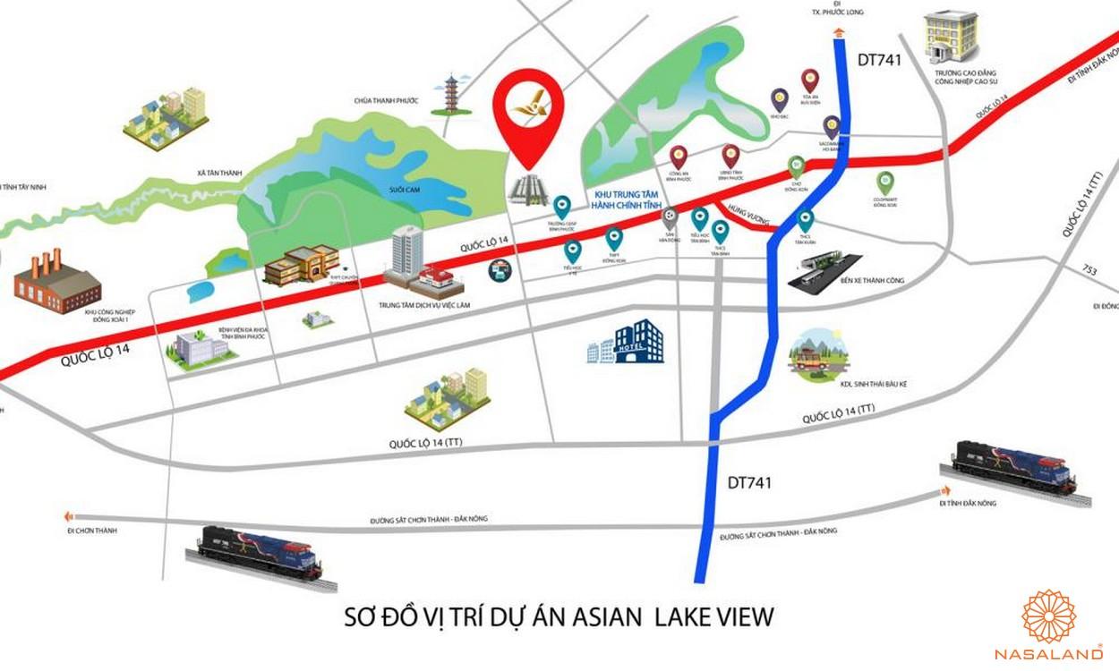 Vị trí địa chỉ dự án Asian Lake View Bình Phước