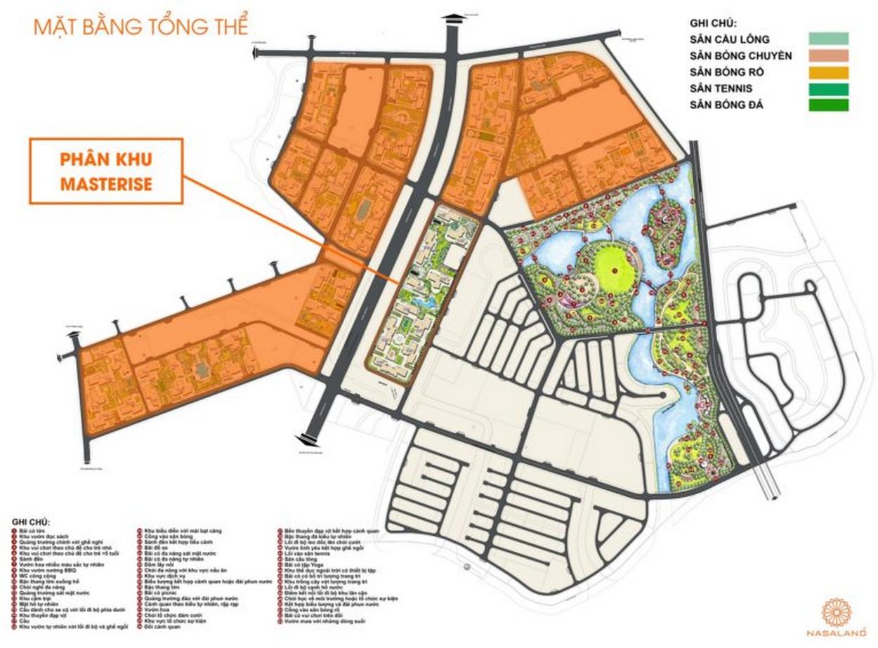 Mặt bằng khu căn hộ Masterise Grand Park Quận 9 tại KDT Vinhomes Grand Park Quận 9
