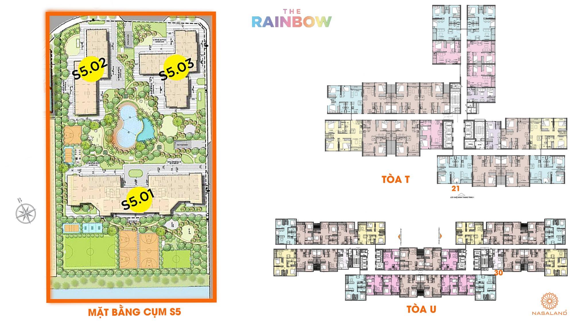 Mặt bằng cụm S5 dự án căn hộ chung cư The Rainbow Vinhomes Grand Park Quận 9