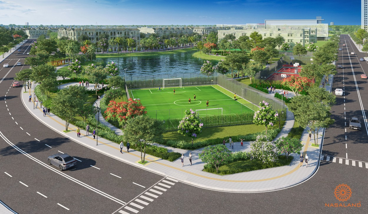 Tiện ích sân bóng đá của công viên của phân khu The Rainbow