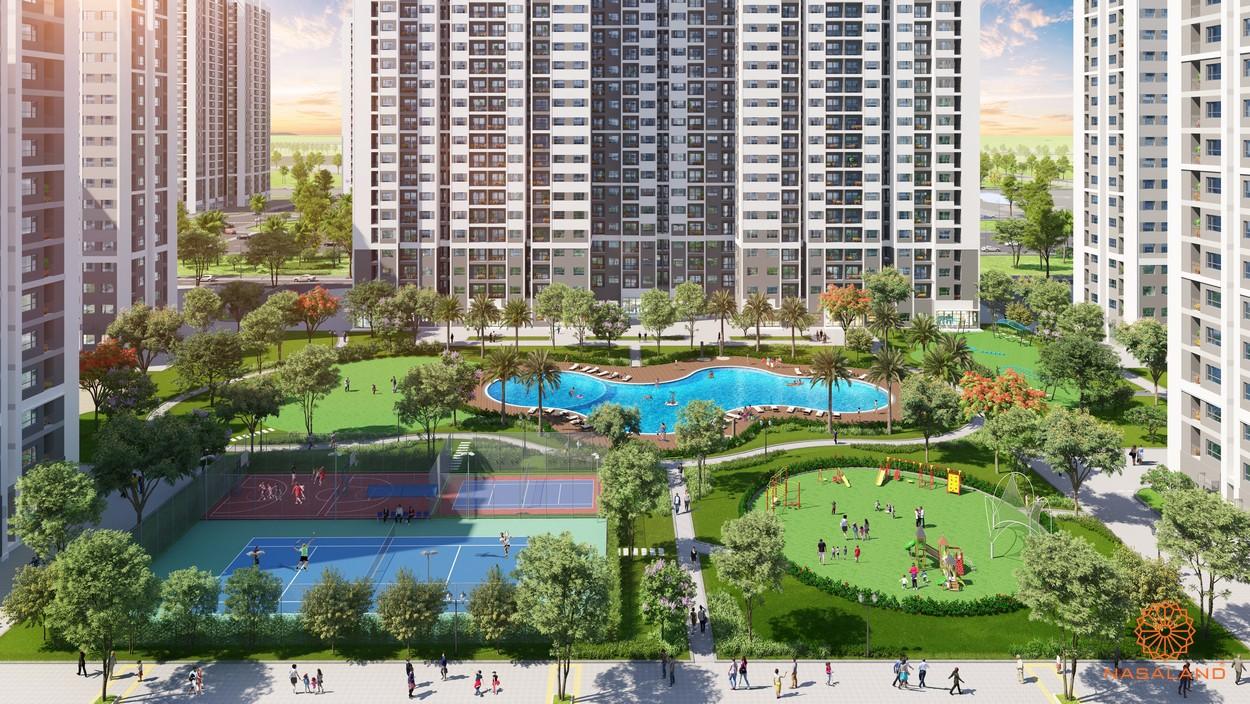 Tiện ích dự án căn hộ The Rainbow Vinhomes Grand Park quận 9 đường Nguyễn Xiển chủ đầu tư Vingrou