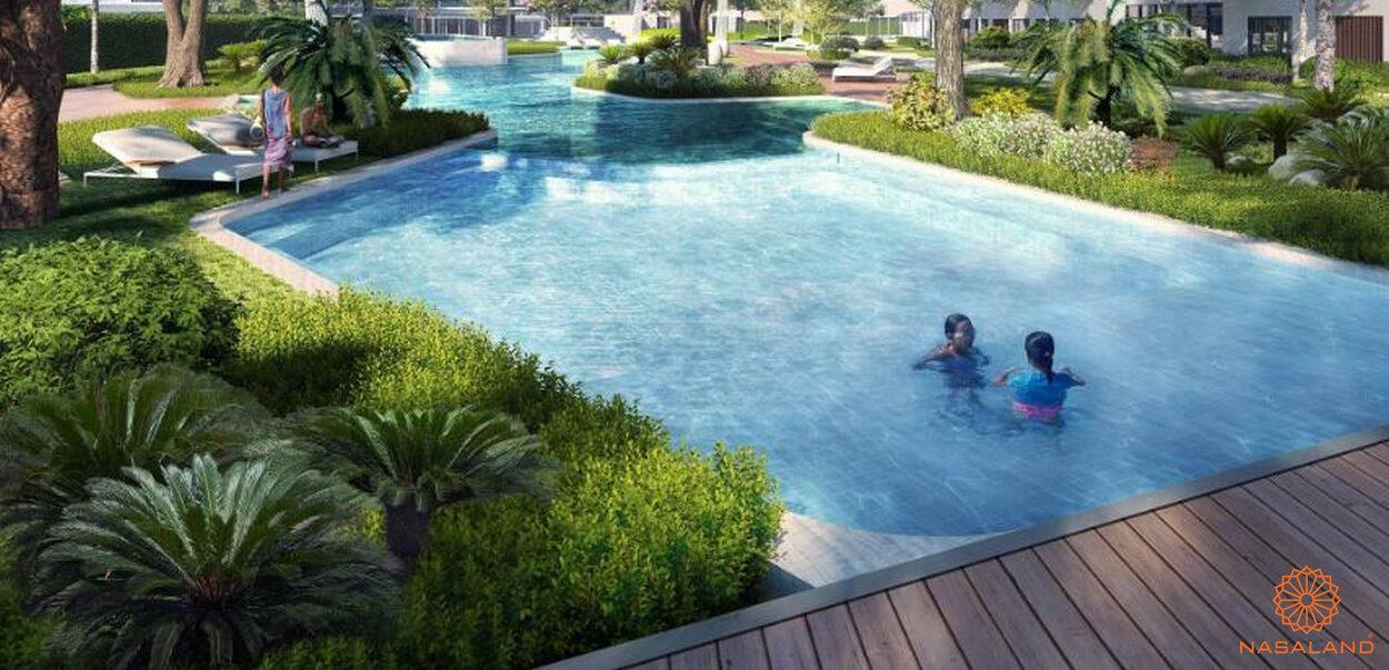 Hồ bơi nội khu dự án căn hộ Masterise Grand Park