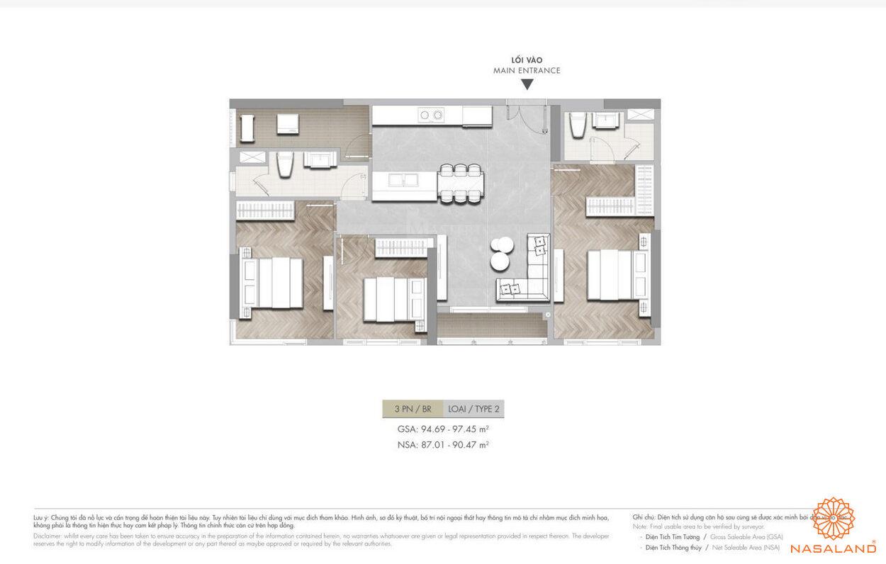 Mặt bằng dự án căn hộ 1PN Masterise Grand Park q9