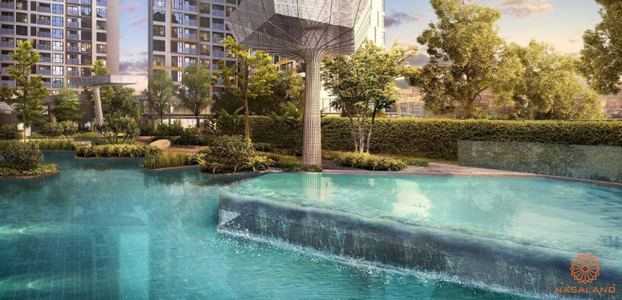 Hồ bơi tràn bờ dự án căn hộ Masterise Grand Park